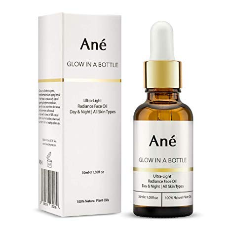 Bottle Face - Ané Glow in a Bottle Face Oil for Glowing Skin - Helps Reduce Fine Lines for Youthful Skin - Natural Plant Oil Face Primer including Argan, Olive and Sea Buckthorn