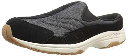 - Easy Spirit Women's Traveltime Mule, Black/Black Suede, 7.5 M US
