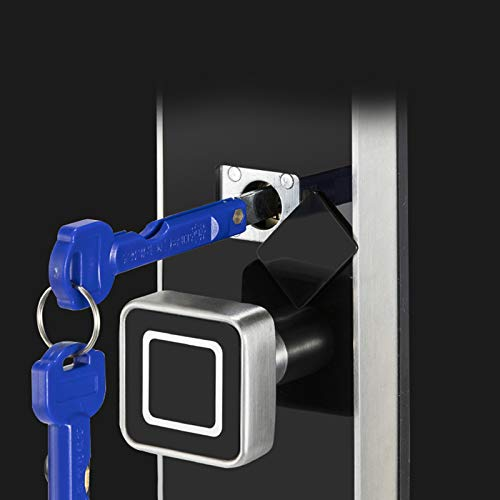 BLWX - Intelligent Door Lock-zinc Alloy-Waterproof and Wear-Resistant Fingerprint Lock Smart Lock Fingerprint Password Lock Automatic Tempered Glass Panel Security Door Wooden Door Door Lock by BLWX-home renovation. Door lock (Image #3)
