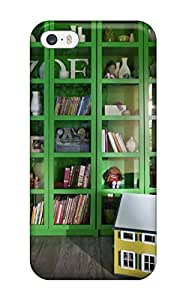 Premium Girls Room With Bright Green And Glass Cubby Display Bookshelf Heavy-duty Protection Case For Iphone 5/5s