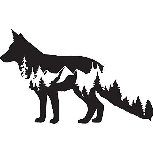 NBFU DECALS Wolf Wildlife 2 (Black) (Set of 2) Premium Waterproof Vinyl Decal Stickers for Laptop Phone Accessory Helmet Car Window Bumper Mug Tuber Cup Door Wall Decoration