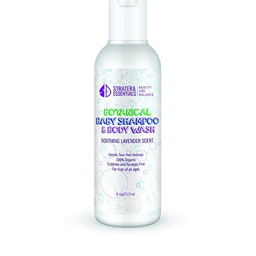 Tear Free Organic Baby Shampoo and Body Wash with Lavender Stratera Essentials Inc.