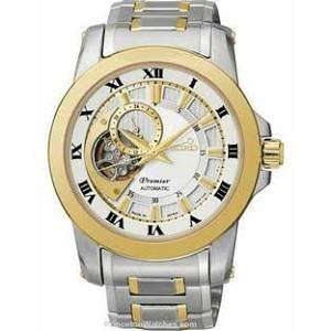 White Dial Premier (Seiko Premier Automatic White Dial Two-tone Mens Watch SSA216)