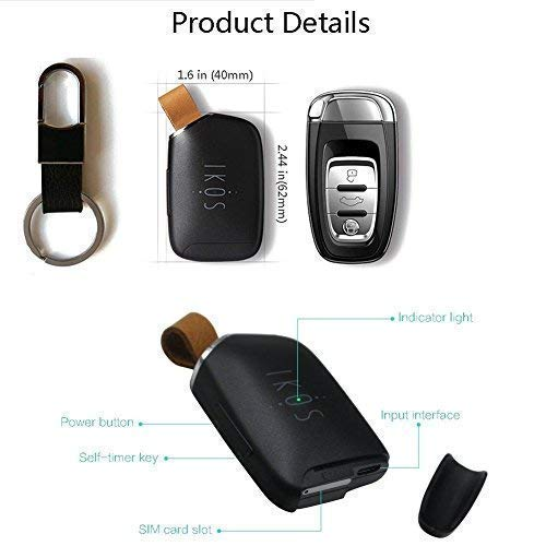 IKOS Bluetooth Dual SIM Adapter Compatible with Apple iPhone X 8 7 6S 6 Plus iPad iPod iOS System, High Staby, Realize 2 SIM Cards Active in 1 iPhone, ...