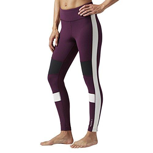 Reebok Women's Color Block Tights, Pacific Purple, Large (Color Block Tights)