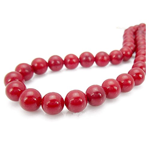 Yuxin Women's Ivory Red Freshwater Cultured Pearl Necklace 16.9