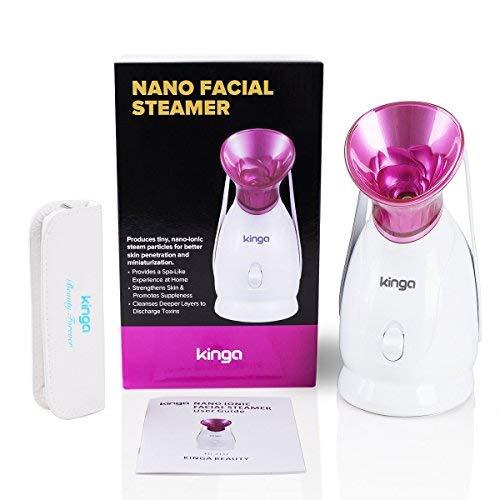 KINGA Facial Steamer Hot Mist Moisturizing Cleaning Pores clearing blackheads Humidifier Home Sauna SPA System Facial Atomizer Facial Nano Sprayer