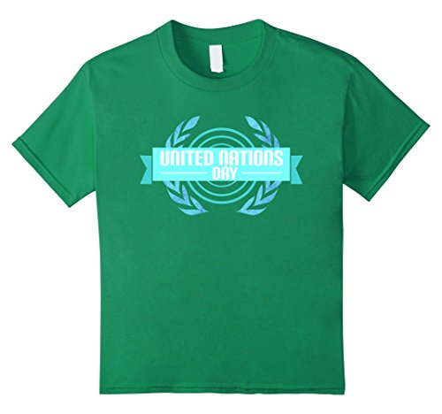 Kids United Nations Day 2017 UN Day Graphic Tshirt Tee 10 Kelly Green