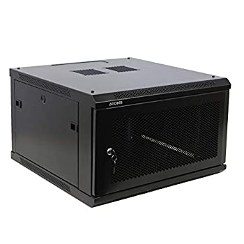 Image of AEONS 6U Professional Wall Mount Network Server Cabinet Enclosure 19-Inch Server Network Rack with Vented Door 16-Inches Deep Black (Fully Assembled) Network Attached Storage