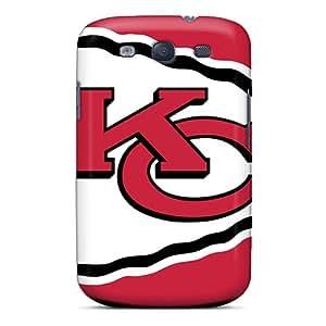 Samsung Galaxy S3 OLx6657atTs Customized Realistic Kansas City Chiefs Series Shock-Absorbing Cell-phone Hard Cover -JonBradica