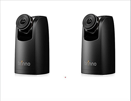 Brinno TLC200 Pro Time-Lapse Video Camera Two-Pack Bundle, Best For Low Light - 40 Days Battery Life, 720p HD w/Display, Batteries Included