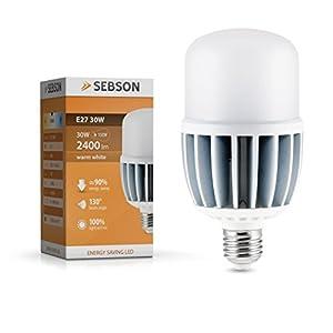 SEBSON lampada LED E2730W, bianco caldo, sostituisce la lampada incandescente da 150W, 2400lumen, Power LED, lampadine 130°.