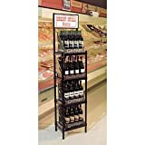Black Wine Case Racks Metal 16 x 12 x 48