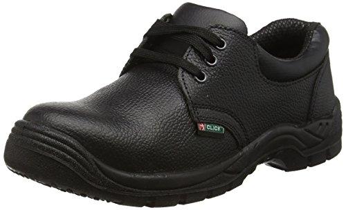 Click Footwear Footwear Dual Density Safety Shoe Steel Toe&Midsole Black - 44/10