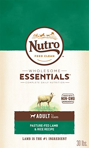 NUTRO WHOLESOME ESSENTIALS Natural Adult Dry Dog Food Pasture-Fed Lamb & Rice Recipe, 30 lb. Bag