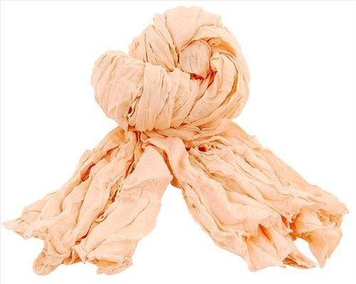 Catherine Lillywhite GC1124PE Peach Sheer Gathered Scarf