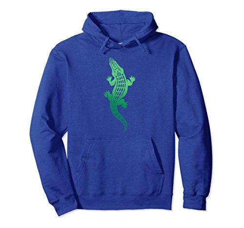 Kids Crocodile Hunter Costume (Unisex See Ya Later Funny Alligator Hoodie Hoody Gator Crocodile Small Royal Blue)