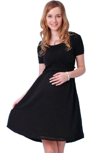 Sweet Mommy Dobby Chiffon Maternity and Nursing Dress BKM