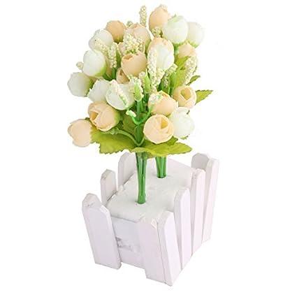 Mazzo Di Fiori E Rose.Amazon Com Edealmax Piante Tessuto Delle Famiglie Ufficio Rose