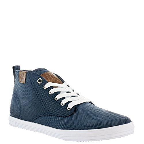 Vlado Schoenen Heren Leon Mid Top Canvas Sneaker Marine