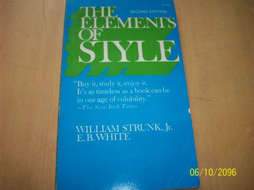 The Elements of Style, 2nd Edition
