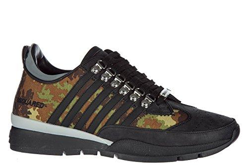 Dsquared2 Herrenschuhe Herren Leder Schuhe Sneakers 251 Schwarz