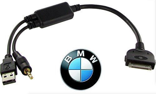 Audio Music Charging Cable Adapter OEM USB AUX for BMW iDRIVE to iPod iPhone iPad ()