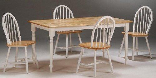 Amazon.com - Boraam 80369 Farmhouse 5-Piece Dining Room Set, White ...