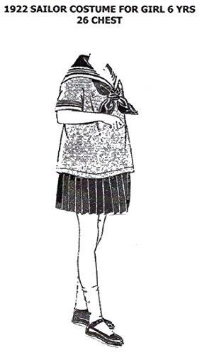 [1922 Sailor Costume for Girl 6 Years Pattern] (Sailor Girl Costume Pattern)