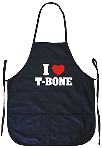 I Heart Love T-Bone Cooking Apron With Pockets