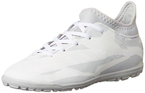 adidas X 16.3 TF J, Botas de Fútbol Para Niños blanco/gris