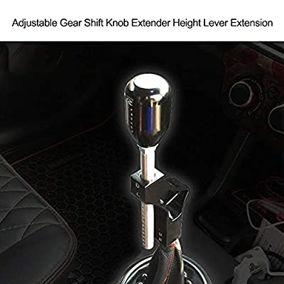 Carrfan Adjustable Gear Shift Knob Extender Height Lever Extension Car Gear Shifter Extender Kit with 4 Adapters: Home Improvement