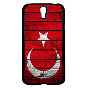 Turkey Flag with Crescent and Star Red and White Wood Background Hard Snap on Phone Case Cover Samsung Galaxy S4 I9500