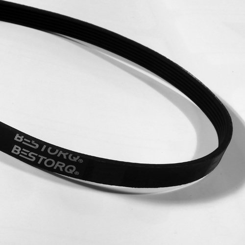 "BESTORQ 530J18 Rubber V-Belt, V-Ribbed Belt Black, 53"" Le..."