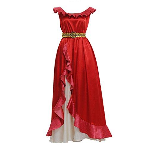 CosplayDiy Women's Dress for Elena of Avalor Princess Elena Halloween Cosplay L