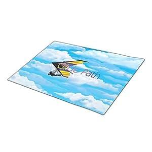 Asyouw Hang Gliding Christmas Door Mat Blank One size Carpet Mats