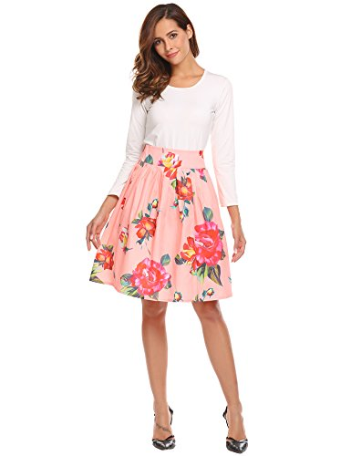 Midi A-line Pleated Floral...