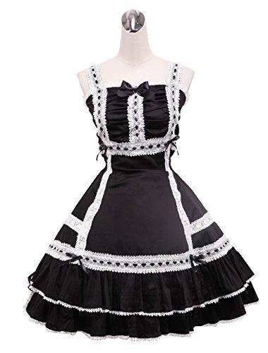 Vestito Del Metà Nero Gotico Di Lunghezza Antaina Halter Delle Balze Donne Lolita dXFnq7Bz