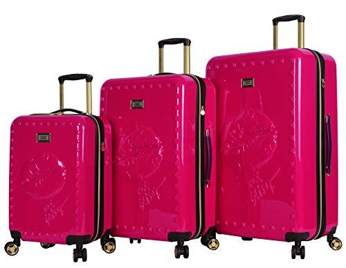 - Betsey Johnson Luggage Hardside 3 Piece Set Suitcase With Spinner Wheels (20