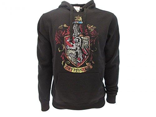 Harry Potter KAPUZENPULLI Hoodie Sweatshirt GRYFFINDOR Haus Waffen - 100% Offiziell WARNER BROS