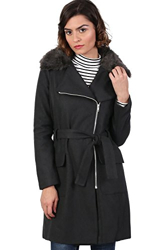 lana de Abrigo cuello negro sintética de de mezcla de PILOT® piel xIqHAwI