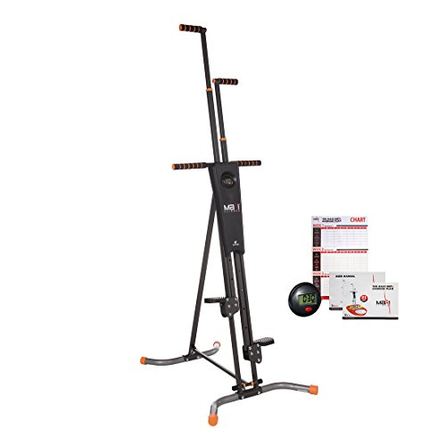 MaxiClimber(r) - The Original Patented Vertical Climber, As Seen On TV - Full Body Workout with Bonus Fitness App for iOS and - Machines Cardio