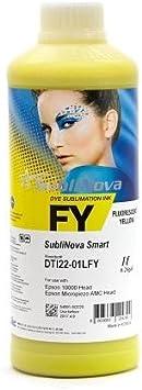 InkTec Tinta de SUBLIMACION Fluor Amarillo, Sublinova Smart by, LITRO: Amazon.es: Electrónica