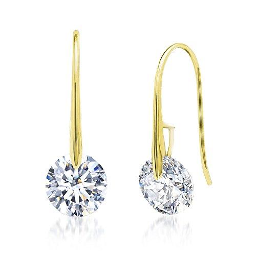 Cubic Zirconia Hook Earring (Gold) (Avon Freshwater Earrings)