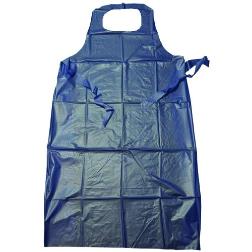 Protective Vinyl Apron Blue-Die Cut neck hold (Pack of 5)