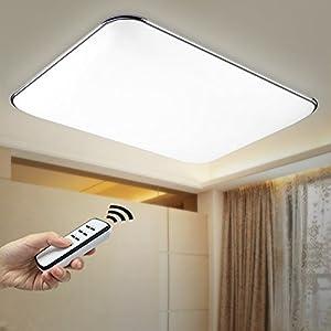 natsen 90w led deckenlampe deckenleuchte silber warmwei. Black Bedroom Furniture Sets. Home Design Ideas