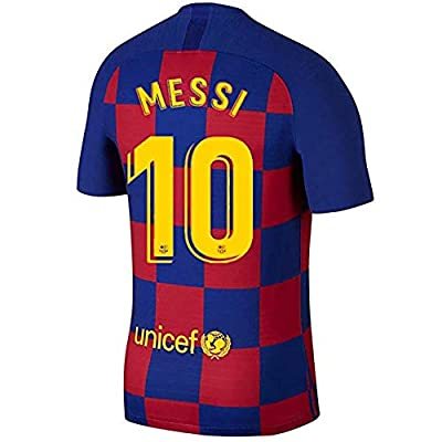 MBLLE Messi #10 Barcelona Home Mens Sport T-Shirts 2019-2020 Season