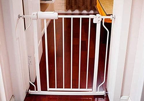 Hfyg Parque Puerta de Escaleras de Metal Blanco, Fácil de Abrir A Través de La Barrera de Seguridad Puerta for Mascotas Unisex (Size : 182-194CM): Amazon.es: Hogar