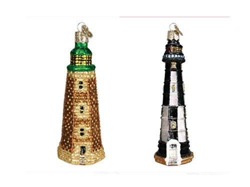 Cape Old (Set of Lighthouse (New Cape Henry and Old Cape Henry) Christmas Ornaments)