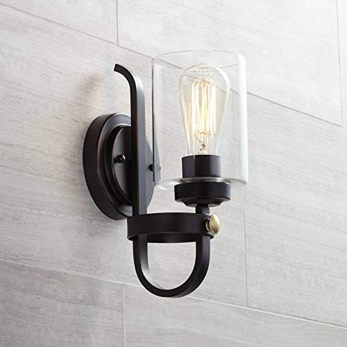Eagleton Rustic Farmhouse Wall Light Sconce LED Oiled Bronze Hardwired 12